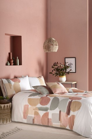 Appletree Duval Geo Cotton Duvet Cover and Pillowcase Set
