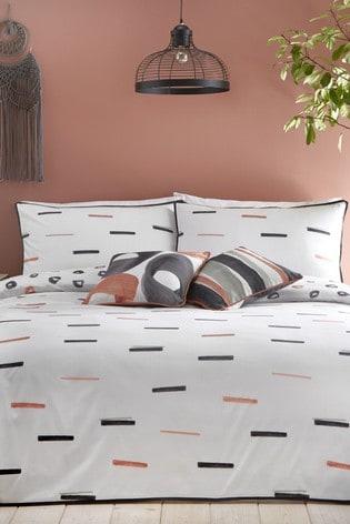 Appletree Tenley Reversible Cotton Duvet Cover and Pillowcase Set