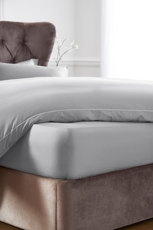 Silver Collection Luxe 400 Thread Count Deep Fitted 100% Egyptian Cotton Sateen Deep Fitted Sheet