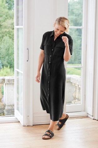 Black Emma Willis Utility Dress