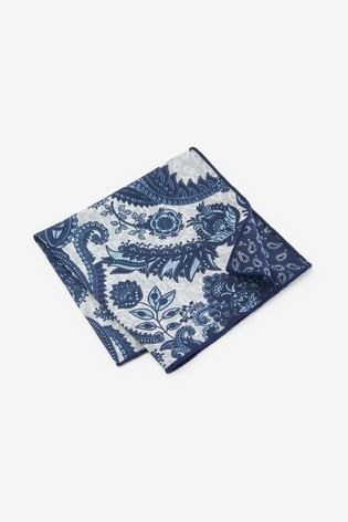 Navy Two Way Pocket Square