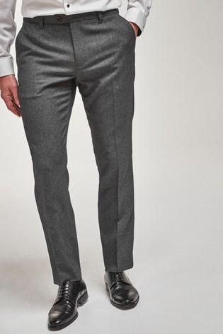Grey Slim Fit Puppytooth Trousers