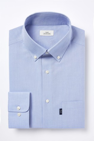 Pale Blue Slim Fit Single Cuff Easy Iron Button Down Oxford Shirt