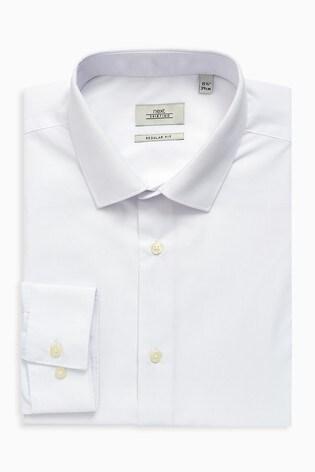 White Regular Fit Single Cuff Shirts Three Pack