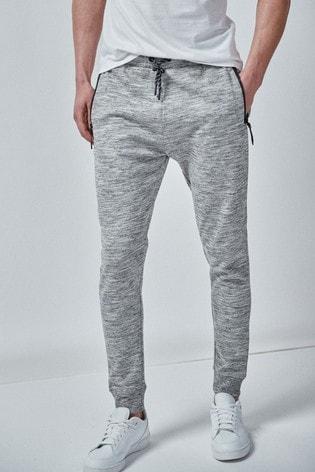 Grey Slim Joggers Sports Jersey