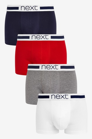 Red/Navy Hipsters Four Pack