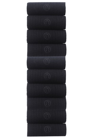 Black Sports Socks Ten Pack