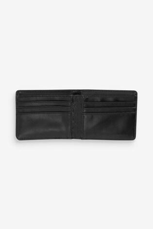 Black Embossed Print Wallet