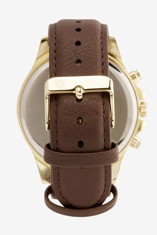 Brown Strap Watch