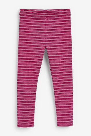 Berry Stripe Leggings (3-16yrs)