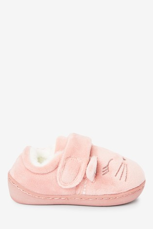 Buy Pink Cat Cupsole Slippers (Younger