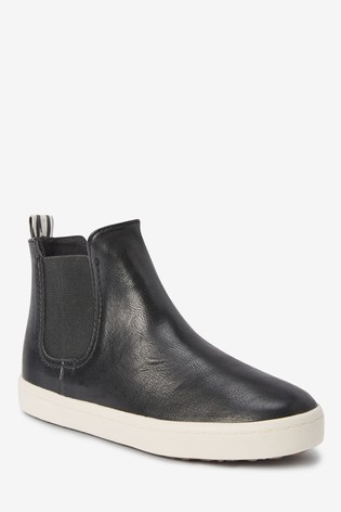 black boot trainers