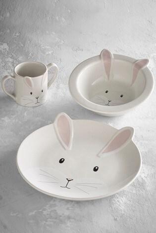 Children's 3 Piece Ceramic Dinner Set