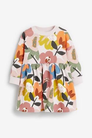 Floral Sweat Dress (3mths-7yrs)