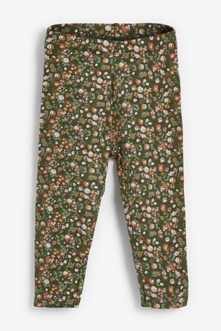 Green Floral Leggings (3mths-7yrs)