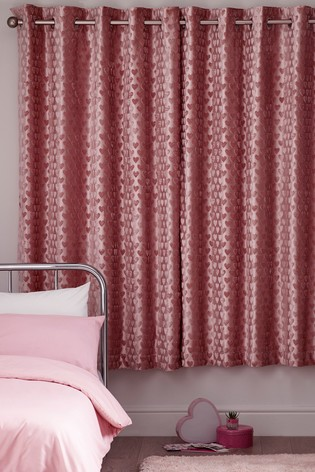 Velvet Heart Eyelet Blackout Curtains