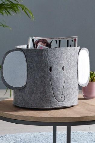 Elephant Felt Storage Basket