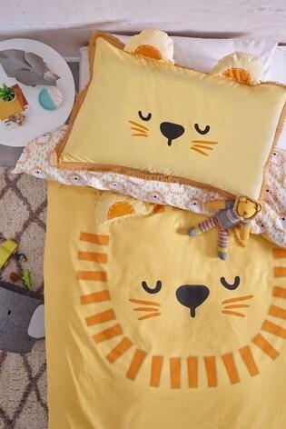 Bright Lion Duvet Cover and Pillowcase Set