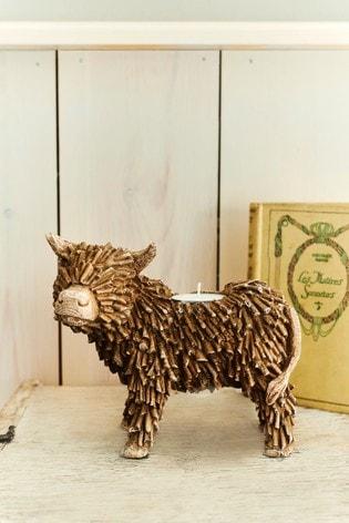 Hamish The Highland Cow Tealight Holder