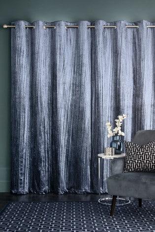 Sparkle Velvet Eyelet Curtains