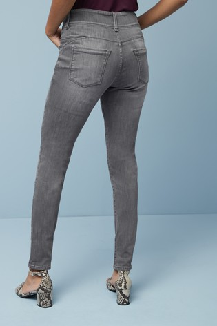 Grey Enhancer Skinny Jeans