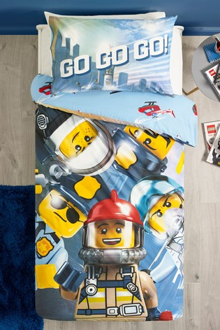 LEGO® City Reversible Duvet Cover And Pillowcase Set