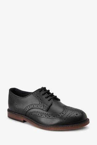 Black Leather Brogues (Older)
