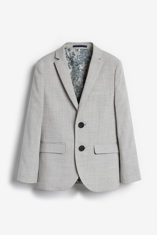 Grey Tailored Fit Suit Jacket (12mths-16yrs)