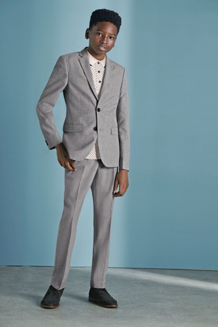 Grey Skinny Fit Suit Trousers (12mths-16yrs)