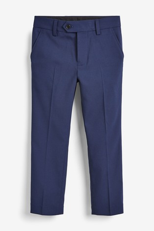 Navy Tailored Fit Suit Trousers (12mths-16yrs)
