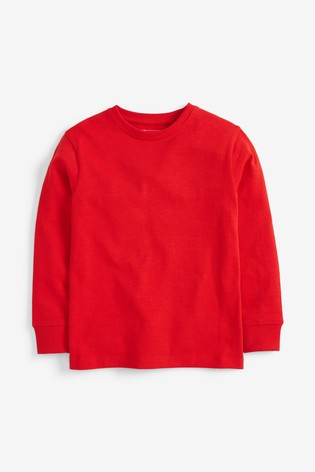 Red Long Sleeve Cosy T-Shirt (3-16yrs)