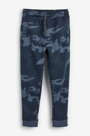 Blue Camo Slim Fit Cuffed Joggers (3-16yrs)