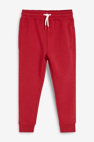 Red Skinny Fit Cuffed Joggers (3-16yrs)