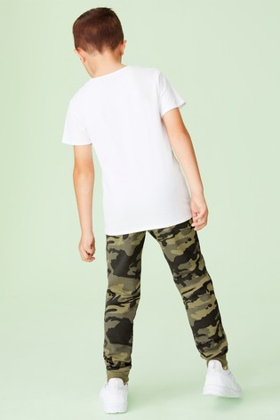 Camouflage Slim Fit Cuffed Joggers (3-16yrs)