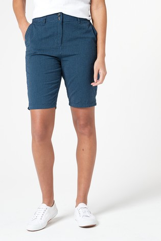 Blue Chino Knee Shorts