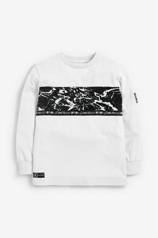 Multi 3 Pack Long Sleeve Splat Graphic T-Shirts (3-16yrs)