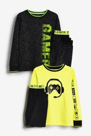 Fluro Gamer 2 Pack Pyjamas (3-16yrs)