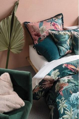 Fernanda Tropical Duvet Cover and Pillowcase Set by Linen House