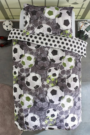 Football Crazy Reversible Duvet Cover and Pillowcase Set