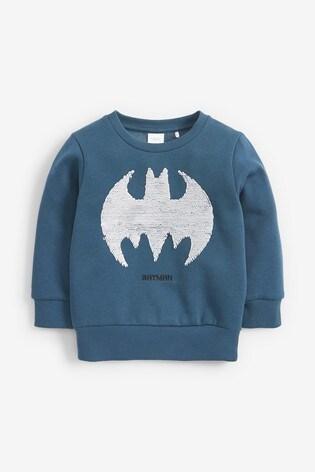 Teal Batman® Flippy Sequin Crew (9mths-8yrs)