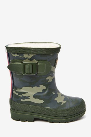 Camouflage Tiger Warm Lined Buckle Wellies (Younger)