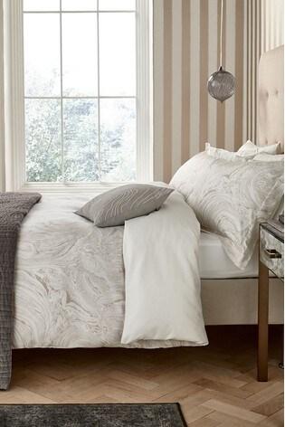 Harlequin Makrana Marble Print Cotton Pillowcase