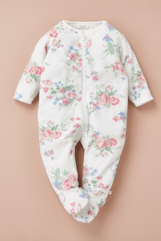 Pink Floral Fleece Sleepsuit (0mths-3yrs)