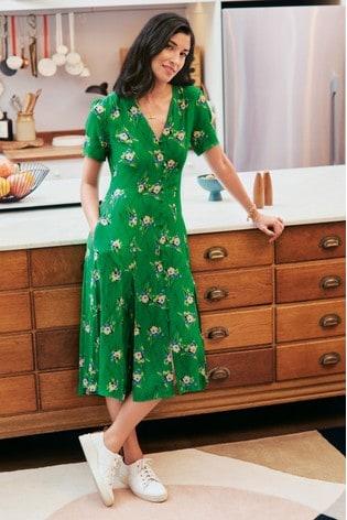 Caroline Issa x Label Print Tea Dress
