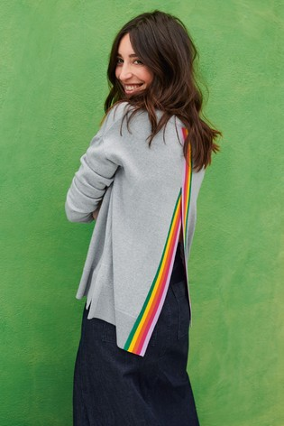 Mix/Madeleine Thompson Open Back Rainbow Jumper