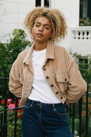 Natural Cord Oversized Jacket