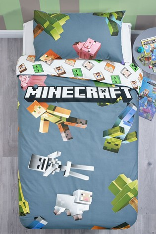 Minecraft Reversible Duvet Cover and Pillowcase Set