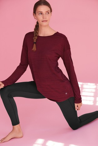 Berry Long Sleeve Sports Top