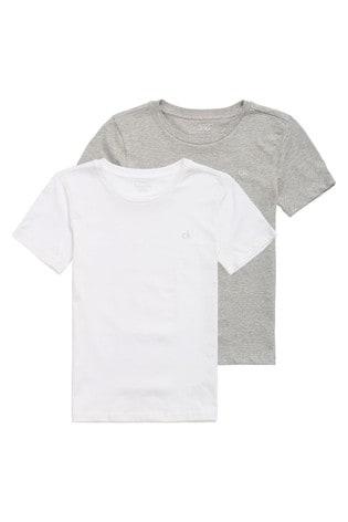 Calvin Klein White Modern Cotton T-Shirts Two Pack
