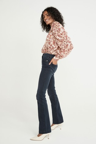 Red Paisley And Floral Print Ruched Long Sleeve Top